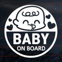 엠블렘 눈웃음 아기 baby on board