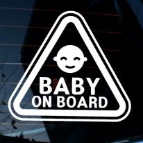주의 삼각 아기얼굴 BABY ON BOARD