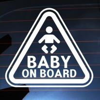 주의 삼각 아기 BABY ON BOARD