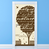 현관문시트지 에어프리_자연의 나무