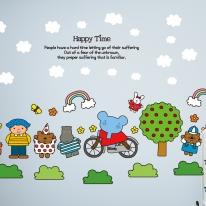 Kids D.I.Y Sticker_엘리 사과나무와 무지개 구름