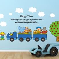 Kids D.I.Y Sticker_엘리 기차와 사과나무