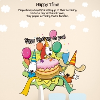 Kids D.I.Y Sticker_아지 생일 축하합니다