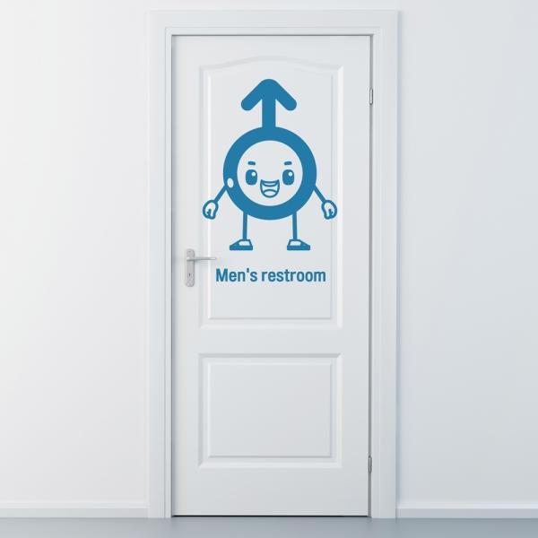 idc333-남자 화장실 표시 스티커(대형)
