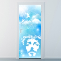nces057-인자한 예수님의 얼굴-현관문시트지