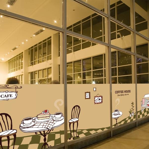 nang205-커피하우스-뮤럴실사 시트지