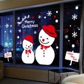 cmi307-즐거운 큐티 눈사람-크리스마스스티커