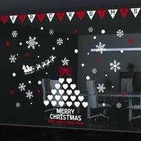 cmi312-하트트리와 삼각가랜드-크리스마스스티커