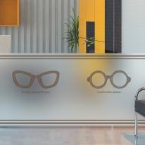dgcn289-클래식 안경-무점착 반투명 창문 시트지