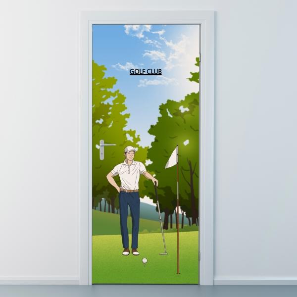 nces277-골프클럽2-프로골퍼-현관문시트지