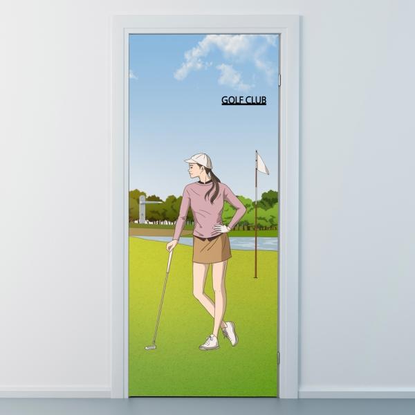 nces279-골프클럽4-베스트골퍼-현관문시트지