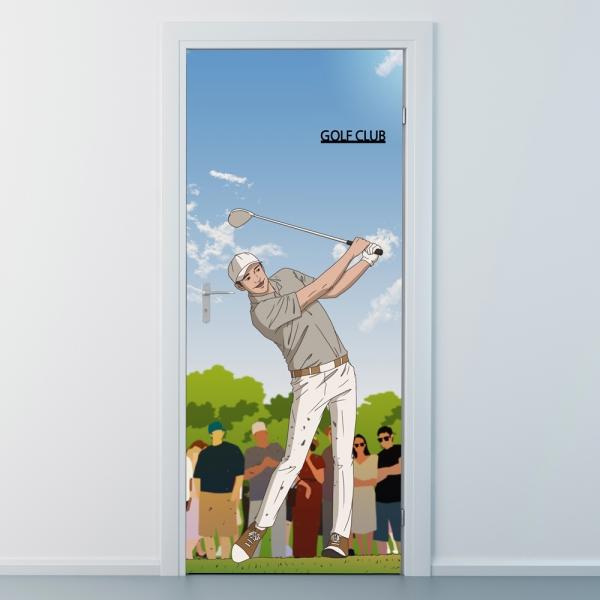 nces280-골프클럽5-골프모션-현관문시트지