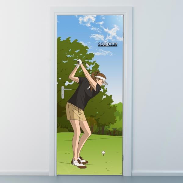 nces281-골프클럽6-골프스윙-현관문시트지