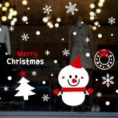 cmi345-큐티 눈사람과 화이트 크리스마스-크리스마스스티커