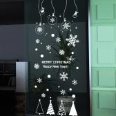cmi348-크리스마스 오너먼트와 함박눈-크리스마스스티커
