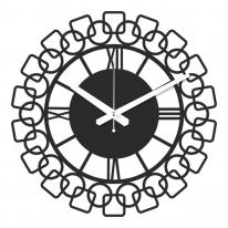 브론즈하우스 WMC-124 무늬목 벽시계-무소음