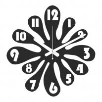 브론즈하우스 WMC-127 무늬목 벽시계-무소음