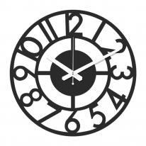 브론즈하우스 WMC-128 무늬목 벽시계-무소음