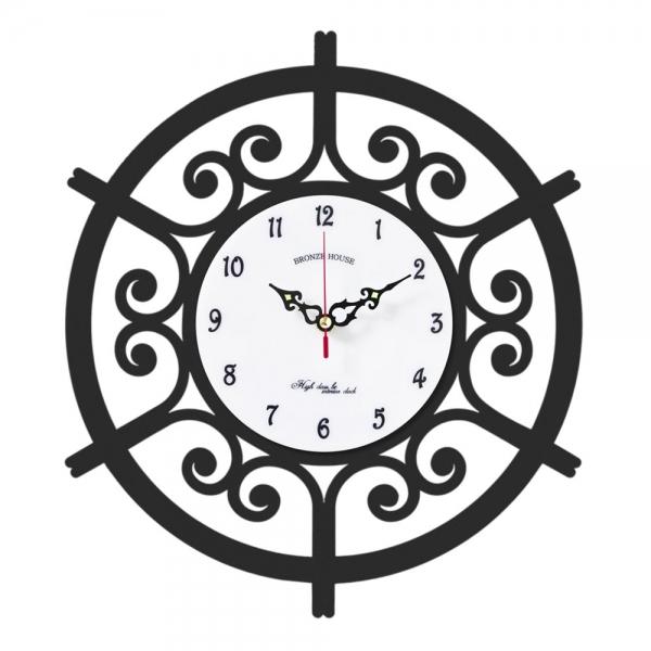브론즈하우스 WMC-131 무늬목 벽시계-무소음