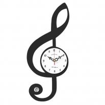 브론즈하우스 WMC-134 무늬목 벽시계-무소음