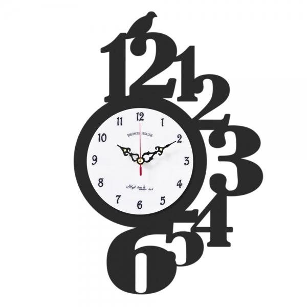 브론즈하우스 WMC-135 무늬목 벽시계-무소음