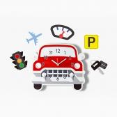 [나룸] WMC-159 자동차 벽시계&데코스티커(무소음)