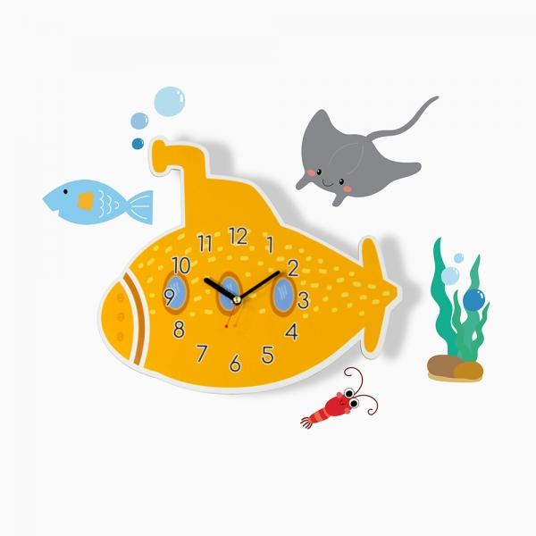 [나룸] WMC-158 잠수함 벽시계&데코스티커(무소음)