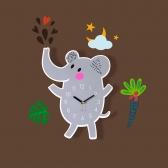 [나룸] WMC-157 코끼리 벽시계&데코스티커(무소음)