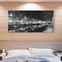 캔버스 액자/ CAS553-네덜란드 암스테르담- 와이드 대형 거실액자