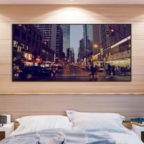 프레임 액자/FA352 뉴욕의 밤거리-와이드 가로 알루미늄 모던 대형 거실 슬림 액자