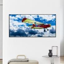 프레임 액자/FA353 창공의 비행기-와이드 가로 알루미늄 모던 대형 거실 슬림 액자