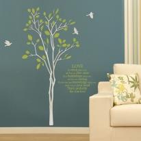 [우드스티커] 그린스토리 (반제품) - 입체우드 월데코  포인트 집꾸미기 벽장식