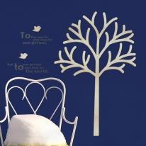 [우드스티커] 더가든 (반제품) - 입체우드 월데코  포인트 집꾸미기 벽장식