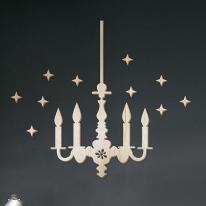 [우드스티커] 우든샹드리에 (반제품) - 입체우드 월데코  포인트 집꾸미기 벽장식