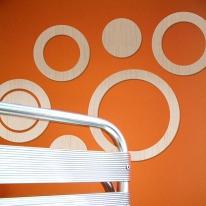 [우드스티커] 우든서클 (반제품) - 입체우드 월데코  포인트 집꾸미기 벽장식