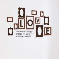 [우드스티커] 우드프레임 (컬러완제품) - 입체우드 월데코  포인트 집꾸미기 벽장식