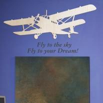 [우드스티커] 하늘비행 (반제품) - 입체우드 월데코  포인트 집꾸미기 벽장식