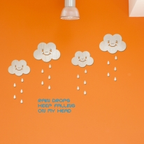 [우드스티커]클라우드 (반제품) - 입체우드 월데코  포인트 우드스카시 벽장식