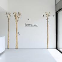 우드스티커-자작나무숲 (반제품) 입체우드 포인트