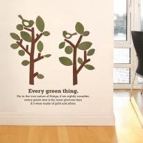 우드스티커-귀여운나무 (컬러완제품) 입체우드 포인트