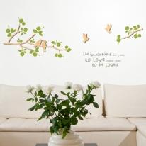 우드스티커-새와나무가지 (반제품) 입체우드 포인트