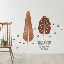 [우드스티커] 잎나무 (컬러완제품)