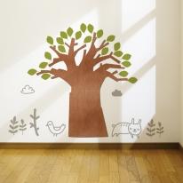 [우드스티커] 고목나무 (컬러완제품)