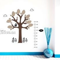 [우드스티커] 나무키재기 (컬러완제품)