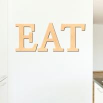 우드스티커- EAT (반제품) 레터링 글자 W465 월데코