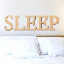 우드스티커- SLEEP (반제품) 레터링글자 W469 포인트