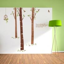 [우드스티커] 자작나무숲2 (컬러완제품)