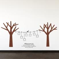 [우드스티커] 작은나무 (컬러완제품)