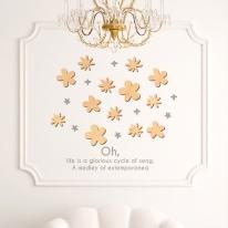 우드스티커- 작은꽃 (반제품) 플라워 W511 입체월데코