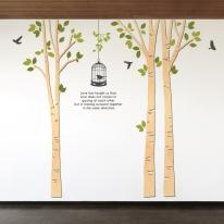 우드스티커- 모던자작나무 (반제품) W509 월데코 입체